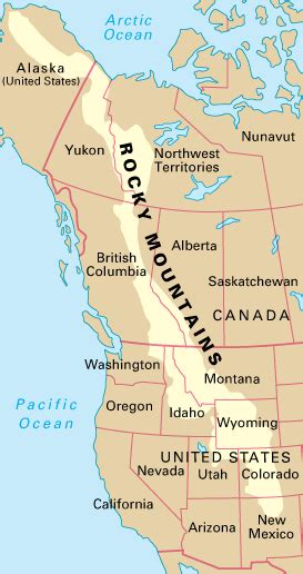 map of the united states rocky mountains the rocky mountains howstuffworks