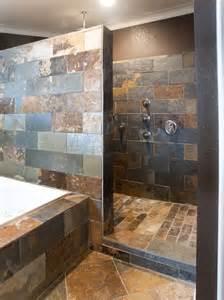 tiled walk in shower no door 224 l italienne pratiques design et