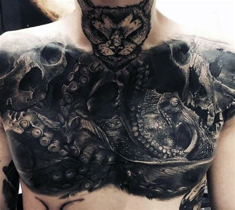unique tattoo on chest 77 awesome and unique chest tattoos designs ideas