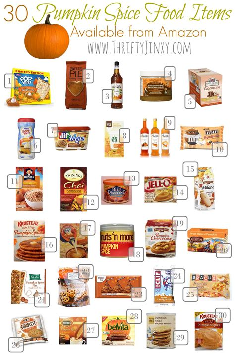 30 pumpkin spice food items perfect for fall thrifty jinxy