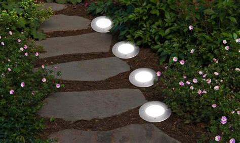 In Ground Patio Lights Solar Powered In Ground Led Deck Light Groupon