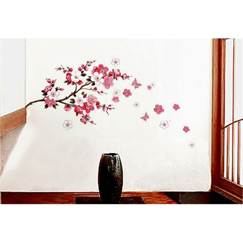 cherry blossom wall decal 2017 grasscloth wallpaper