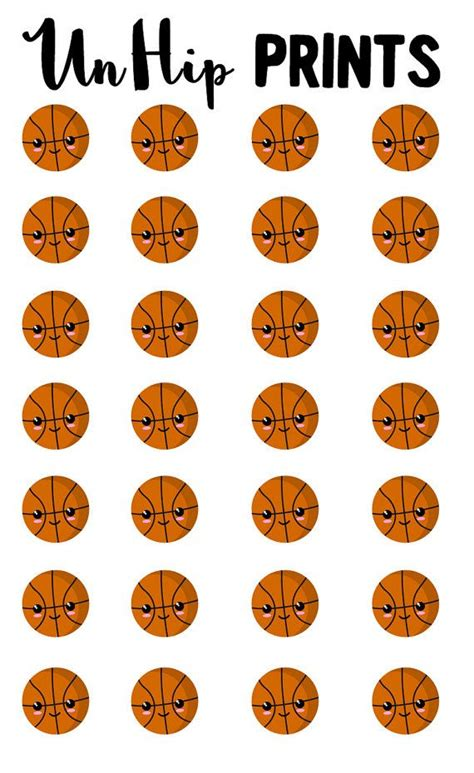printable basketball stickers sports stickers basketball stickers kawaii sports by