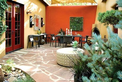 decorar paredes de un patio colores para las paredes del patio o la terraza guia de