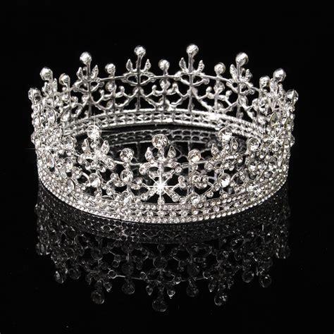 Princess Wedding Crown princess bridal rhinestone hair tiara wedding crown veil headband usa ebay