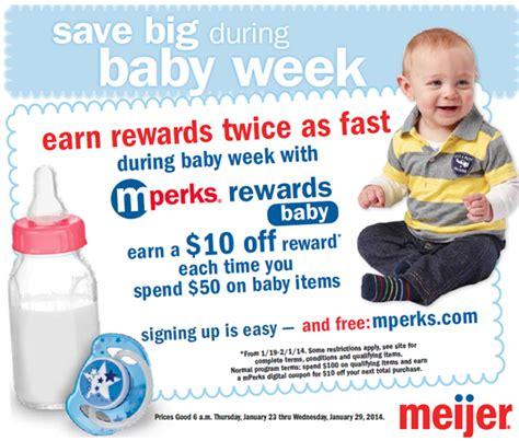 Meijer Gift Card Center - meijer baby week savings win a 10 meijer gift card bargains to bounty