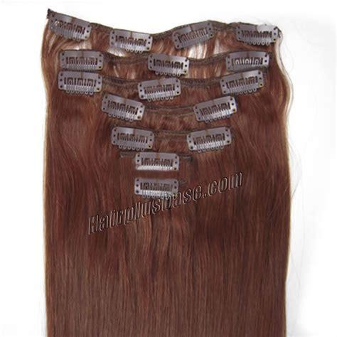 auburn hair extensions 32 inch 33 auburn clip in remy human hair extensions