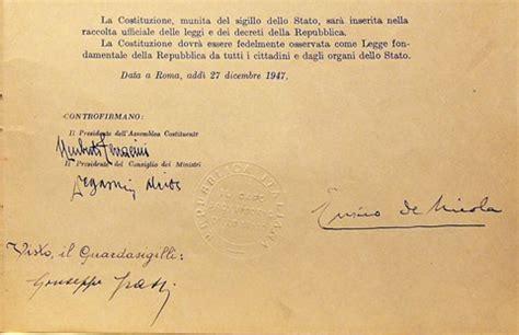 costituzione italiana testo la costituzione della repubblica italiana
