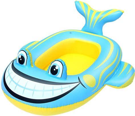 opblaasboot blauw bol bestway opblaasboot vis 107 x 98 cm geel blauw