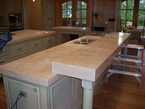 Kitchen Countertop Bar by Concrete Kitchen Countertops Home Design Ideas Essentials