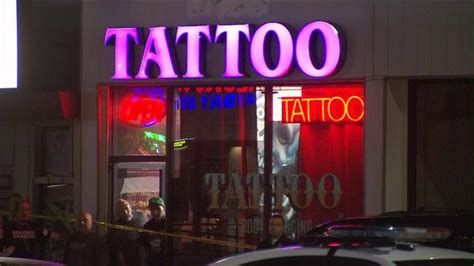 my tattoo shop hollywood well known artist trigz to in front of
