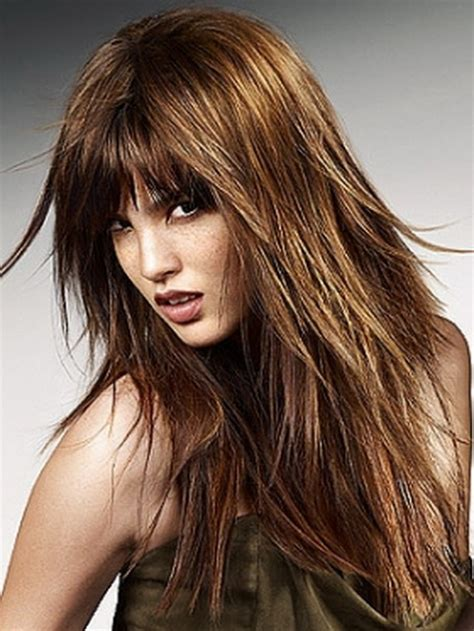 haircuts with lots of layers and bangs long layered haircuts for short hair