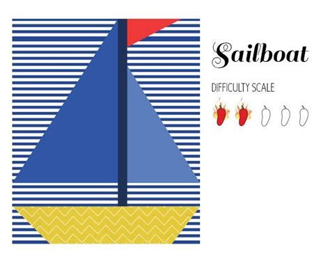 Boat Quilt Block Pattern by Sailboat Paper Pieced Quilt Block By Protoquilt Craftsy