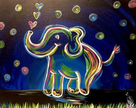 paint with a twist washington township neon elephant fundraiser friday november 11