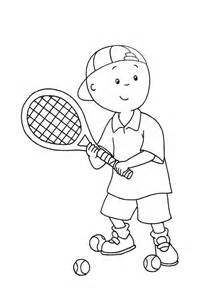 what color is a tennis caillou gioca a tennis da stare e colorare