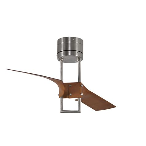 flush mount ceiling fan with remote shop harbor breeze revel island 52 in brushed nickel flush