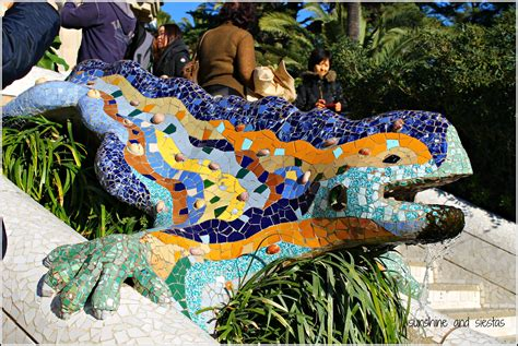 Barcelona Bench by Places With Encanto Barcelona S Parc Guell Sunshine And
