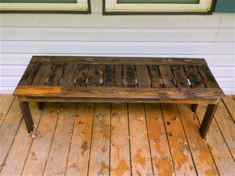 how to make a pallet bench 19 diy wooden pallet bench diy to make