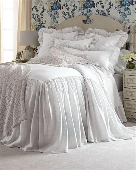 skirted coverlet pine cone hill king savannah skirted coverlet