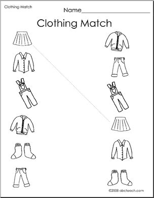 clothes matching worksheets clothes matching worksheets anniemanz80 gmail com