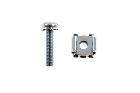 rack mount cage nuts with screws 12 24 qty 50 fast