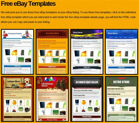 Best Ebay Templates Our Top 13 Ebay Store Templates Free