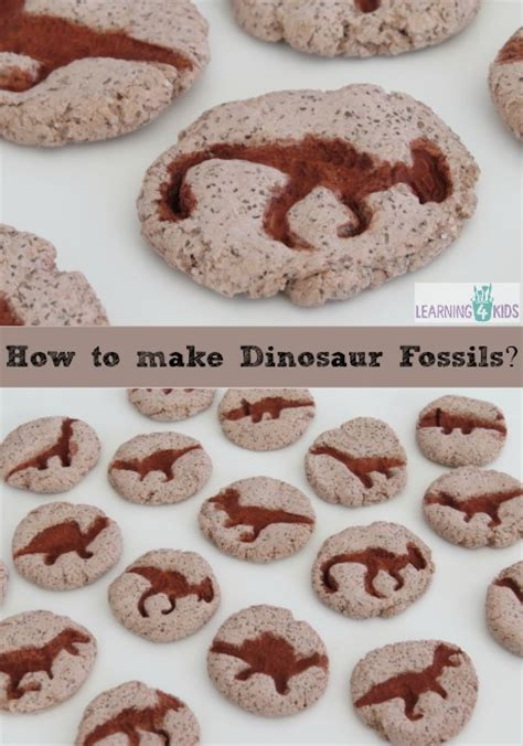 Fossil Jaynice how to make dinosaur fossils learning 4