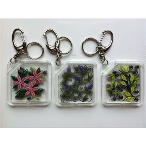 How To Make Paper Keychains - 242 best images about quilling keychains charms on