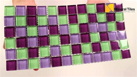 Glass Backsplash In Kitchen glass mosaic tile backsplash purple pop blend 1x1
