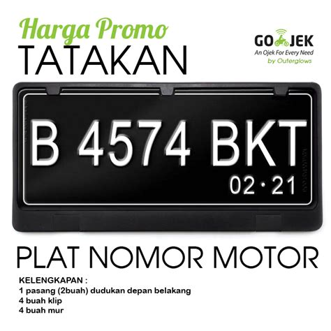 Tatakan Plat Nomor Motor jual tatakan atau dudukan plat nomor motor outerglows