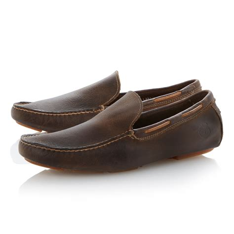 mens brown loafer shoes timberland loafer shoes in brown for lyst
