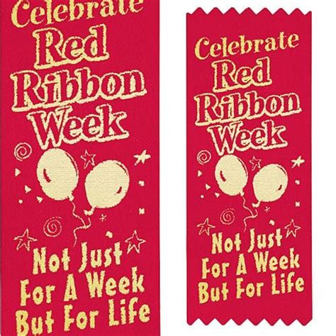 Red Ribbon Week Giveaways - red ribbon week 2017 drug prevention giveaways care promotions