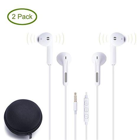 2pack premium earbuds earphones for ipod iphone in ear headphones for apple iphone 6s 6 6plus