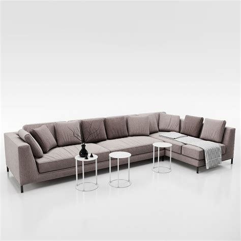 sofa b sofa b and b italia ray 3d model max obj fbx cgtrader com