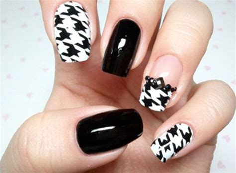 houndstooth pattern nails 50 best houndstooth nail art designs ideas trends