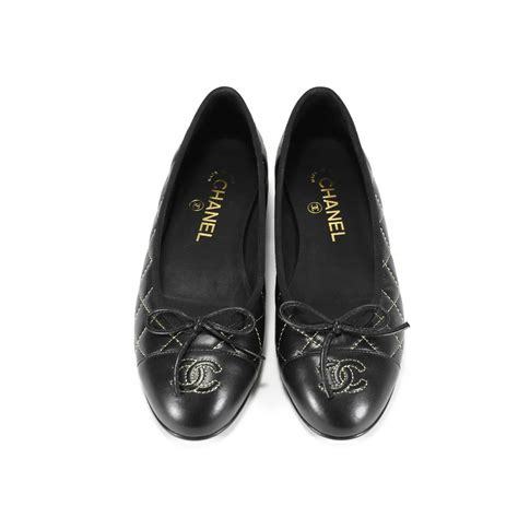 second chanel quilted ballerina flats the fifth