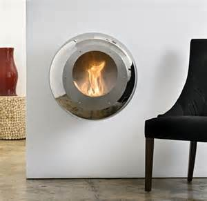 wall mount fireplace in mirror finish stainless