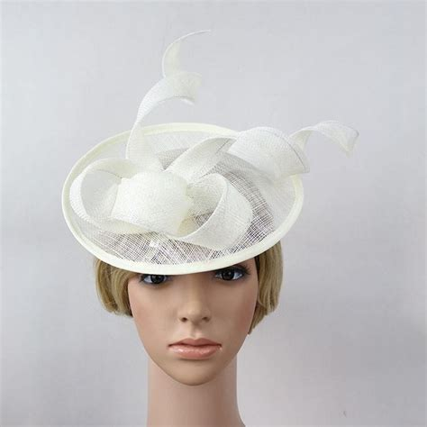 Vintage Bridal Hair Fascinators by New White Black Vintage Fascinators Sinamay Hair