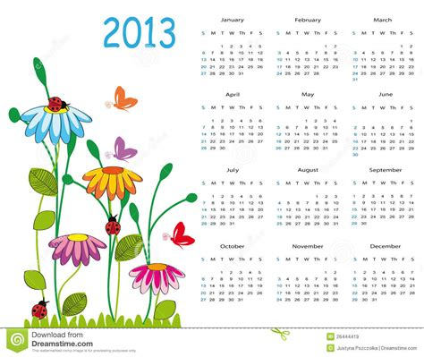 Imagen Calendario Original Calendar 2013 Royalty Free Stock Images Image 26444419