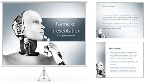 template powerpoint robot futuristic robot powerpoint template backgrounds id