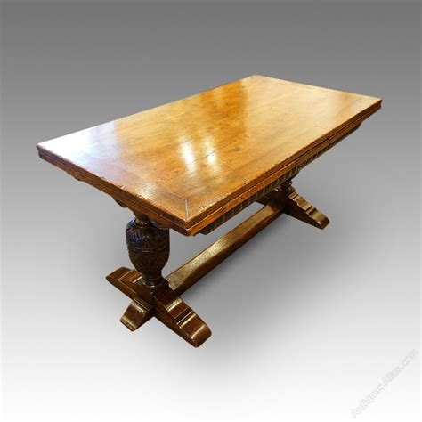 Harrods Dining Tables Harrods Oak Refectory Draw Leaf Dining Table Antiques Atlas