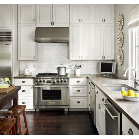 kitchens white kitchen cabinets gray quartz countertops