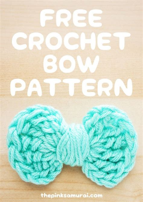 free crochet bow pattern 707 best kawaii images on pinterest samurai the pink