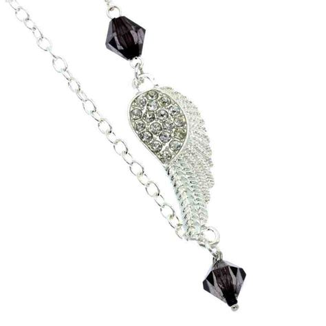 Rhinestone Wing Necklace wing necklace with rhinestones jafy s jewelry