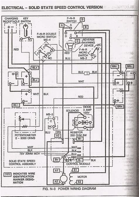 ezgo wiring diagram electric golf cart basic ezgo electric golf cart wiring and manuals