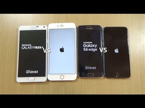 iphone 6 6 plus ios 9 beta vs s6 edge note 4 lollipop 5 0 2 speed test