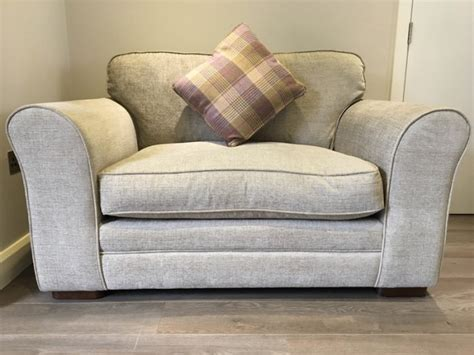 sofa snuggle beautiful grey snuggle sofa couch seat for sale in