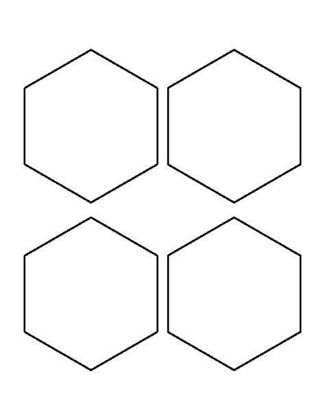 4 inch hexagon template 4 inch hexagon pattern use the printable outline for