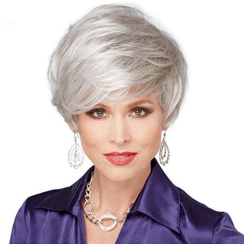 grey hairstyles for younger women short grey haircuts for older women for 2017 pinteres