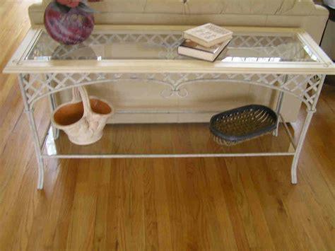 iron and glass sofa table wrought iron sofa table homesfeed